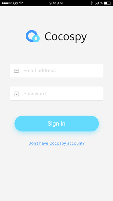cocospy android tracking app login