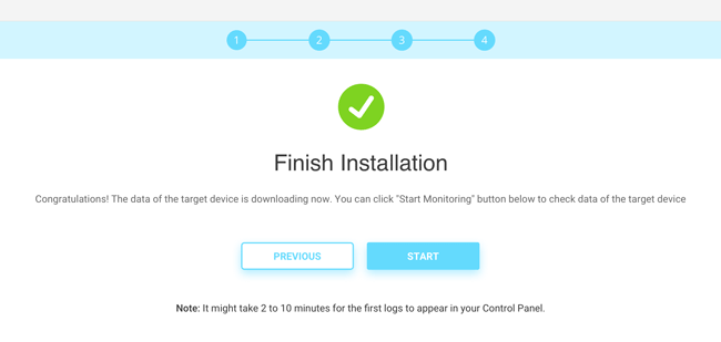 finish android app tracking installation