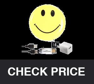 MVOWIZON Spy Cam with Mini Smile Face Button Pins