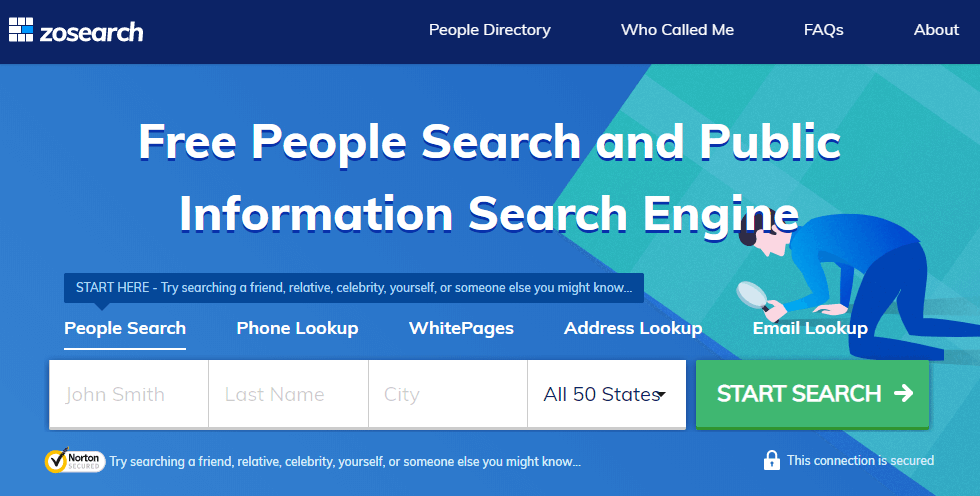 zosearch homepage